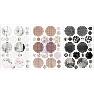 "Amelia Rose Circle Stickers 4.5""X6.5"" 3/Pkg-Romantique"