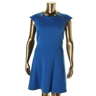 MICHAEL Michael Kors Womens Ponte Cap Sleeves Wear to Work Dress - 6