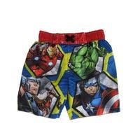 Marvel Little Boys Multi Color Avengers Swim Shorts