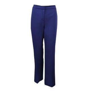 Kasper Women's 'Kate' Oasis Classic Fit Crepe Dress Pants - INDIGO