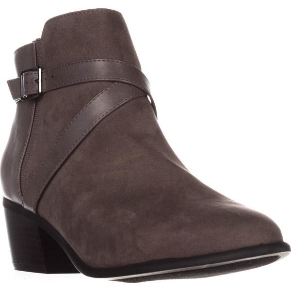 KS35 Falonn Block Heel Ankle Boots, Dark Grey