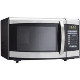 Danby DMW099BLSDD Microwave Ovens, Black with Stainless Steel, 0.9 Cu.Ft.