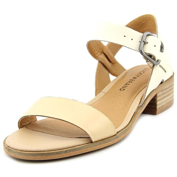 Lucky Brand Toni Women Open-Toe Leather Tan Slingback Sandal