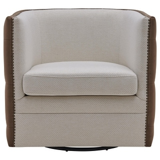 Link to Leslie Fabric Swivel Tufted Chair Similar Items in Living Room Chairs