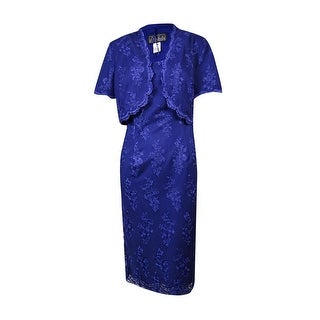 Alex Evenings Women's Embroidered Lace 2Pc Dress