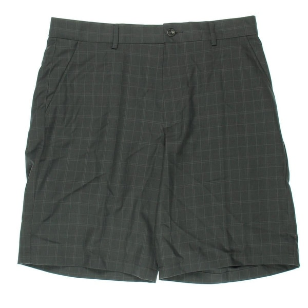 Greg Norman for Tasso Elba Mens Shorts Windowpane Flat Front