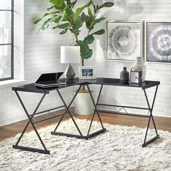 Simple Living Janae Glass Corner Desk. Opens flyout.