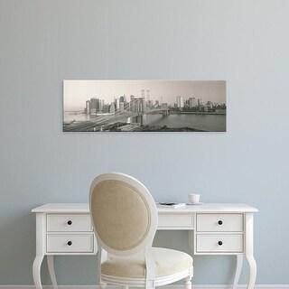 Easy Art Prints Panoramic Images's 'Brooklyn Bridge Manhattan New York City NY' Premium Canvas Art