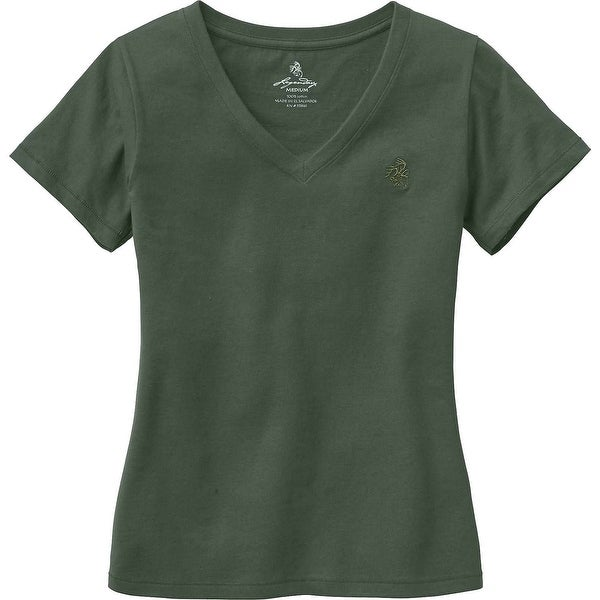 Legendary Whitetails Ladies Signature Buck V-Neck T-Shirt - army