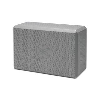 Gaiam Flower of Life Yoga Block Fitness Workout - Grey - O/S