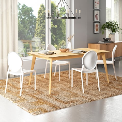 Carson Carrington Dattolo 5-piece Natural Finish Dining Table with Resin Chairs