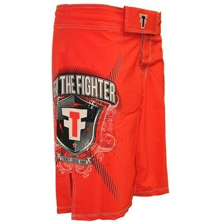 Fear the Fighter MMA Fight Shorts - Red