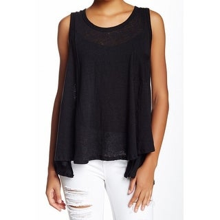Everleigh NEW Black Womens Size Large L Scoop Neck One-Pocket Tank Top