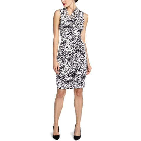Rachel Rachel Roy Womens Axel Wear to Work Dress Animal Print Sleeveless