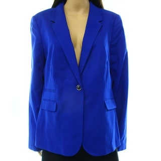 Vince Camuto NEW Blue Sapphire Women's Size 14 One-Button Jacket