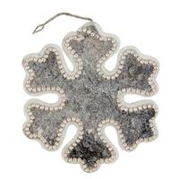 """8"""" Rustic Embellished Snowflake Decorative Christmas Ornament - brown"""