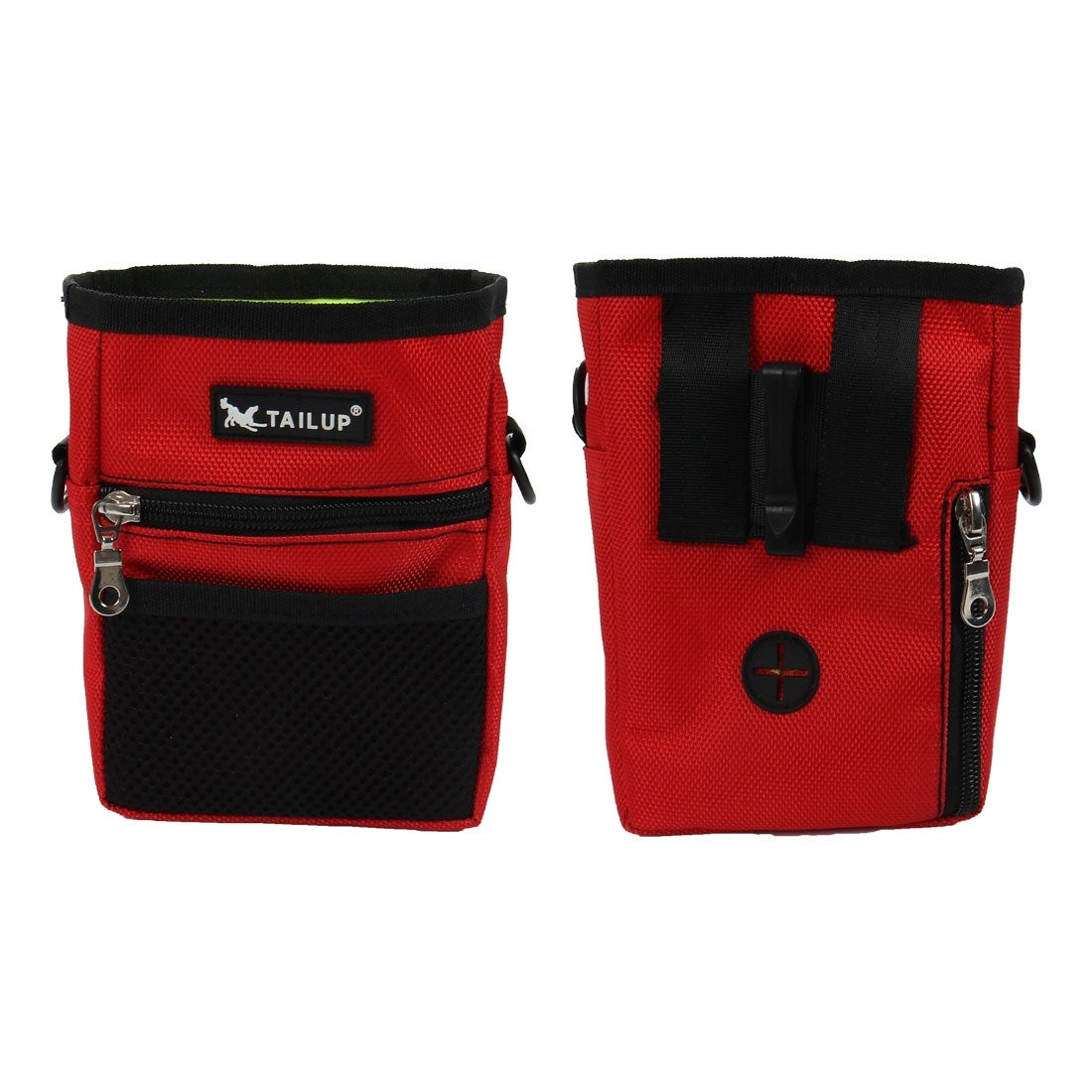 uxcell TAILUP Authorized Dog Treat Pouch Training Waist Bag Carry Pet Toys Dog Training Accessory Front Mesh Pocket Easily Carries Brown