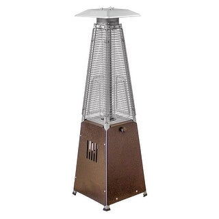 AZ Patio Heaters HLDS032 GTTHG Portable Glass Tube Patio Heater, Bronze