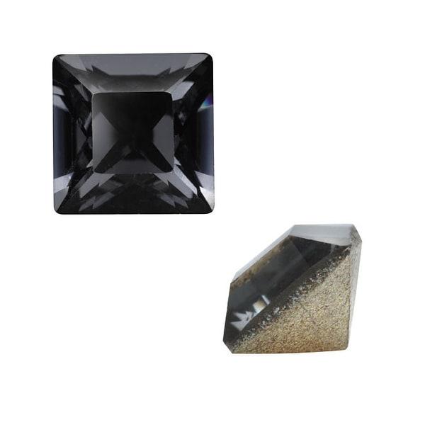 Swarovski Crystal, 4428 Square Fancy Stone 4mm, 10 Pieces, Crystal Silver Night