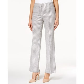 Nine West NEW Blue White Women's Size 2X33 Striped Neo-Classic Pants