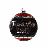 Silver Plated Tootsie Roll Candy Logo Christmas Ornament with