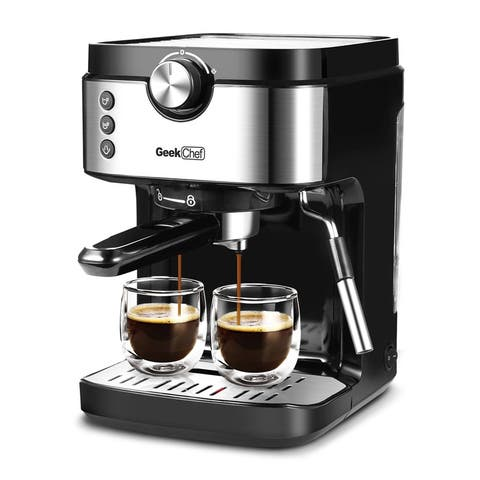 1300W Coffee Machine 20 Bar With Foaming Milk Frother Wand