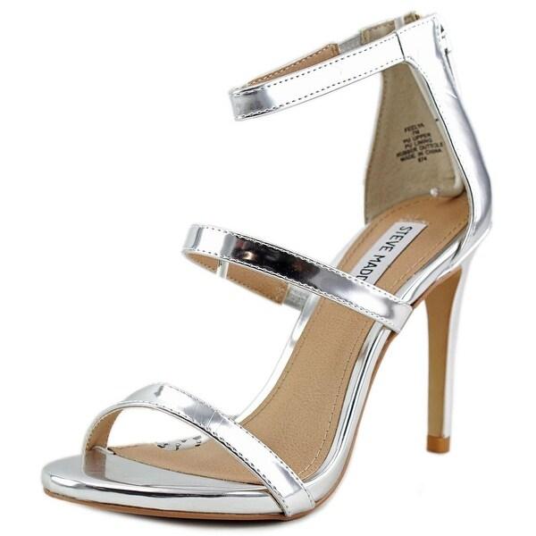 Steve Madden Feelya Women Open Toe Synthetic Silver Sandals