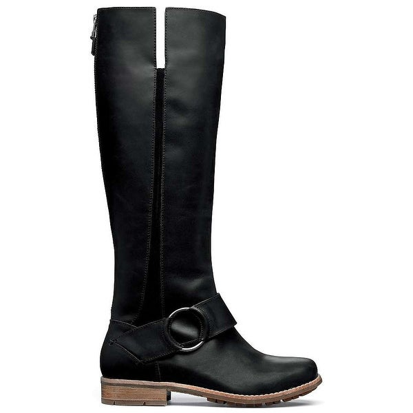 OluKai NEW Black Shoes Size 5M Knee-High Buckle Leather Boots
