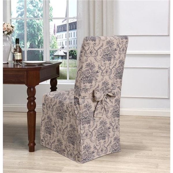 Madison Kathy Ireland Cau Dining Room Chair Slipcover Navy Free Shipping On Orders Over 45 22562709