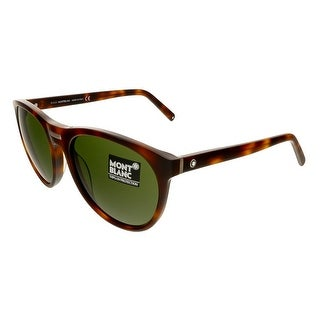 Montblanc MB506/S 52N Dark Havana Round Sunglasses - Dark Havana - 58-19-145
