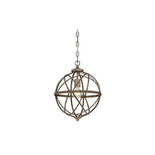 """Millennium Lighting 2281 Lakewood 1-Light 12"""" Wide Foyer Pendant with Cage Frame - N/A"""