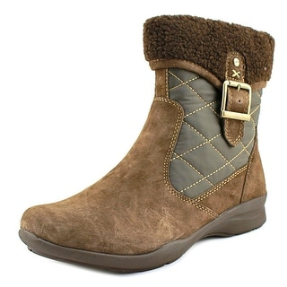 Earth Pinnacle   Round Toe Suede  Ankle Boot