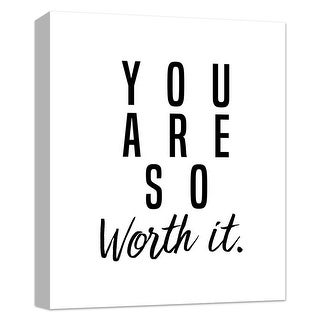 """PTM Images 9-124868  PTM Canvas Collection 10"""" x 8"""" - """"You Are Worth It"""" Giclee Sayings & Quotes Art Print on Canvas"""