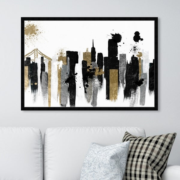 Oliver Gal 'Glamorous San Francisco' Cities and Skylines Wall Art Framed Print United States Cities - Black, Gold. Opens flyout.