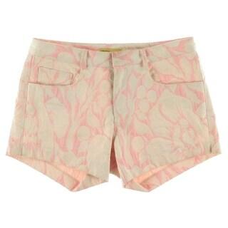 Catherine Malandrino Womens Jacquard Stretch Casual Shorts - 4