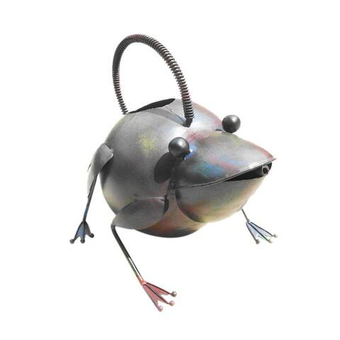 Offex Handmade Iron Multi Color Frog Watering Can