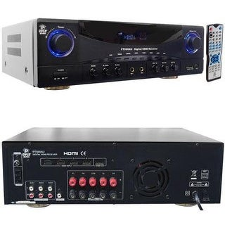 Pyle Audio KV9655b Pyle-Home PT590AU 5.1 Channel 350 Watts Home Theater Built-In AM/FM Radio/USB/SD Card HDMI Amplifier Receiver