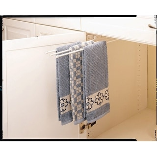 "Rev-A-Shelf 563-47  563 Series 3 Prong Towel Bar with 12"" Slides"