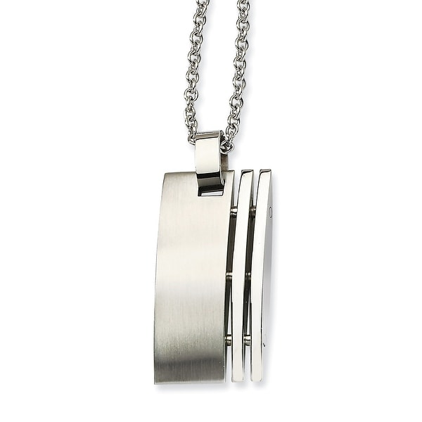 Chisel Stainless Steel Brushed Pendant 22 Inch Necklace (2 mm) - 22 in