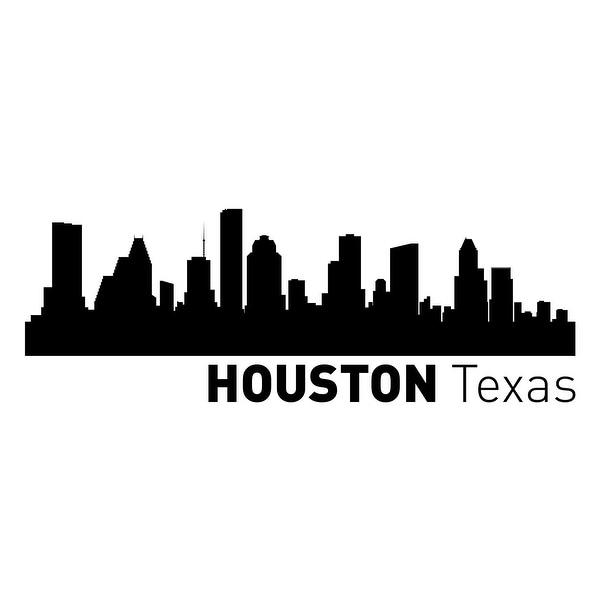 Houston, Texas Vinyl Skylines Vinyl 48x24