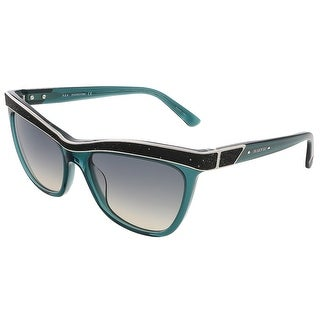Swarovski SK0075/S 96P Transparent Dark Green Butterfly sunglasses