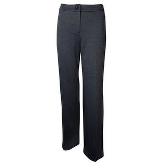 Jones New York Women's Sloane Flat Front Dress Pant - Charcoal
