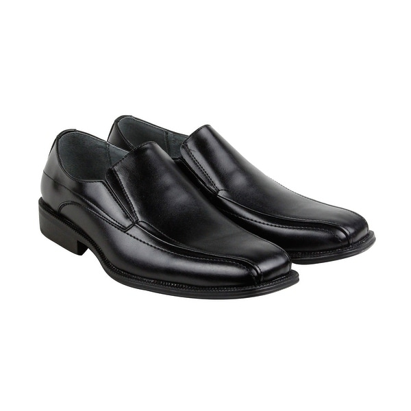 Calvin Klein Jim Mens Black Leather Casual Dress Slip On Loafers Shoes
