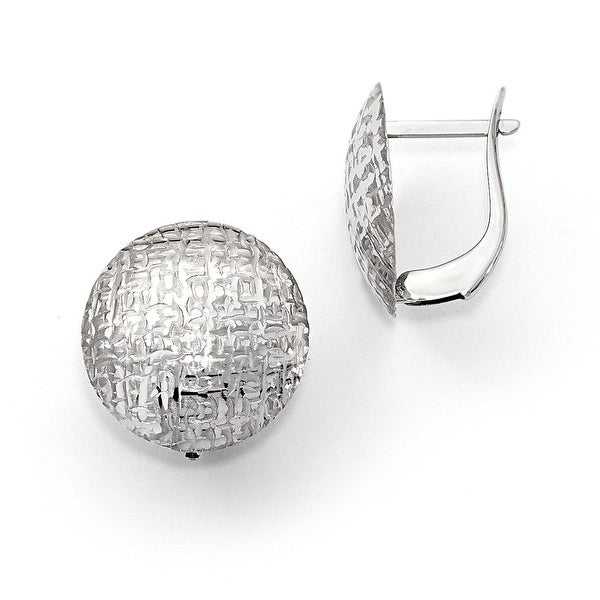 14k White Gold Earrings