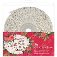 5M - Papermania Pocket Full Of Posies Crochet Trim