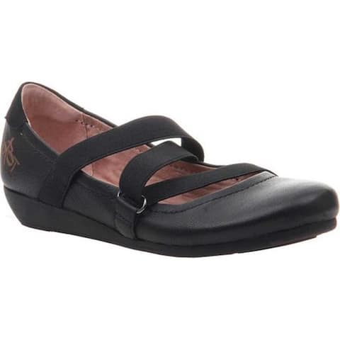OTBT Women's Anora Mary Jane Black Leather