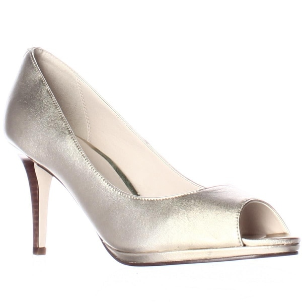 Cole Haan Davis Open Toe Pumps, Metallic Gold