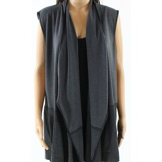 Karl Lagerfeld NEW Gray Women's Size Small S Draped Open Vest Sweater