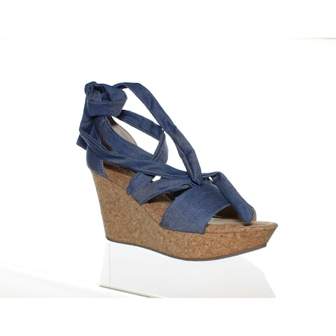 Kenneth Cole Womens Sole Rise Blue Sandals Size 9