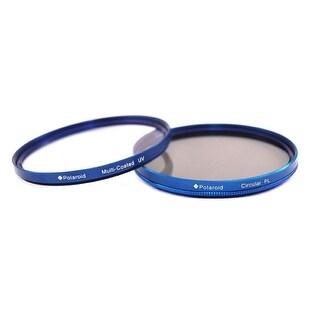 Polaroid Optics 52mm Multi-Coated Dual Filter Kit BLUE (MC UV, CPL)